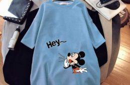 Mickey mouse-тай цэнхэр урт футволк